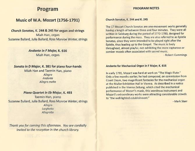 AllMozart ConcertProgram